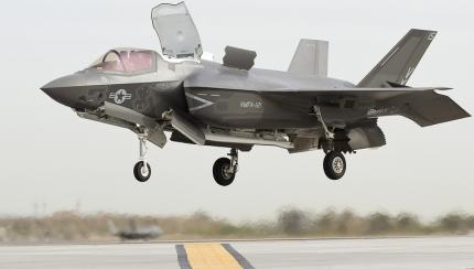 Corps' First Operational F-35B Conducts First Vertical Landing
