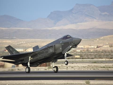 F-35 Arrival at Nellis AFB, Nevada