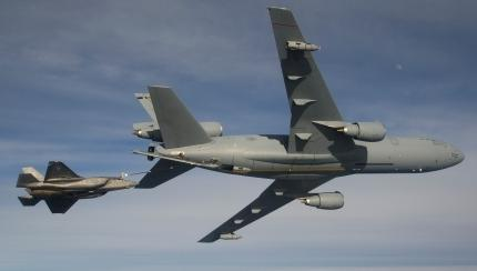 First F-35B KC-10 Refueling