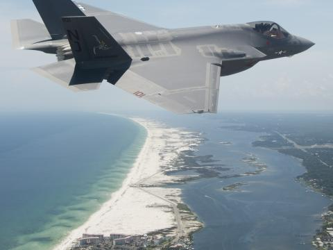 First U.S. Navy F-35C Arrives at Eglin AFB