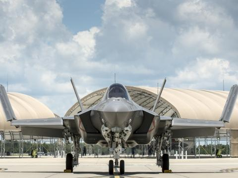 Navy F-35C Arrives at Eglin AFB