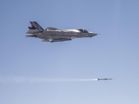 First F-35 In-Flight Missile Launch