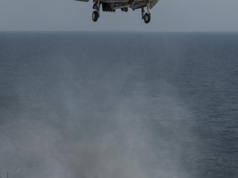 F-35B Vertical Landing at Sea