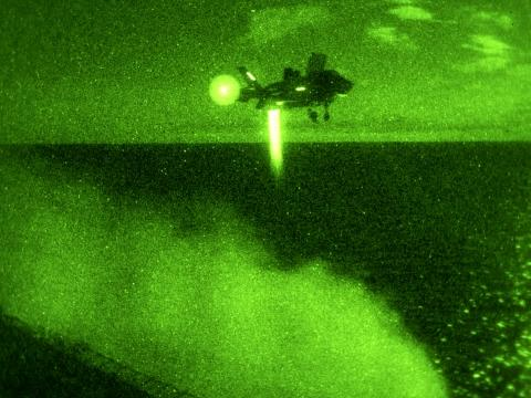 First F-35B Night Landing at Sea
