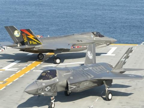 F-35B Operations on the USS Wasp