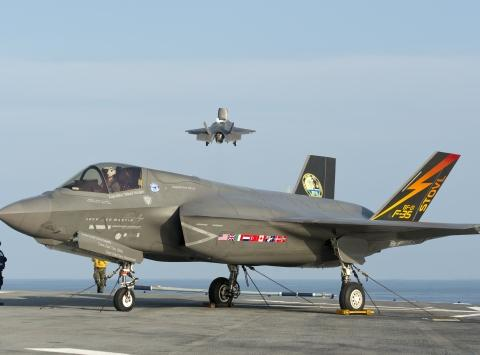 F-35B Short Takeoff at Sea
