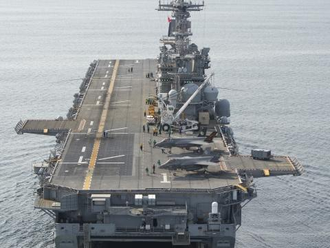 F-35B Ship Trials Aboard the USS Wasp
