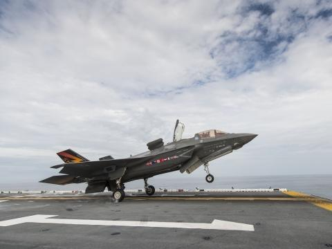F-35B Short TO at Sea