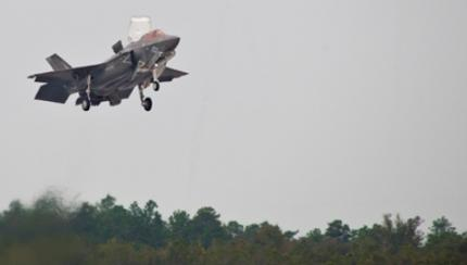 Pilot completes U.K.'s first vertical landing in an F-35B