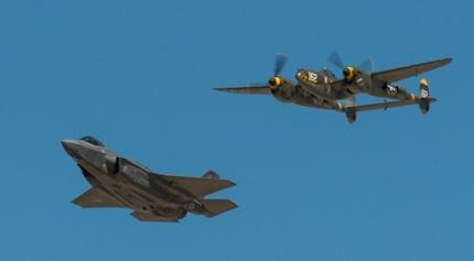 F-35 Shares the Sky With Namesake P-38 Lightning