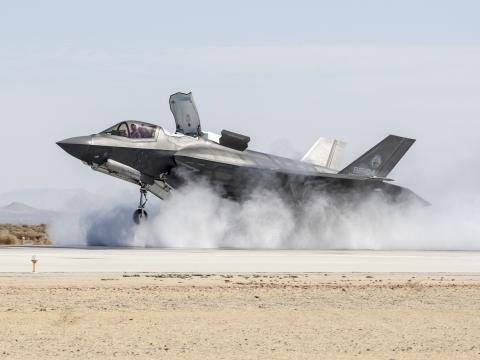 F-35B Wet Runway and Crosswind Testing