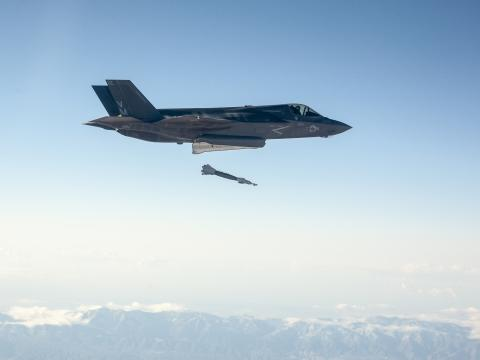 First F-35 Guided Weapon Test