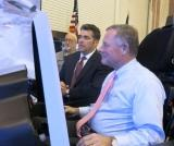 Simulator Gives Burr Taste of the Future of Marine Aviation