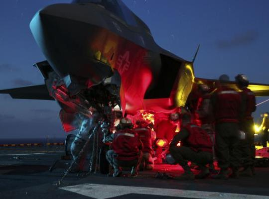 Night Ordnance on the Wasp