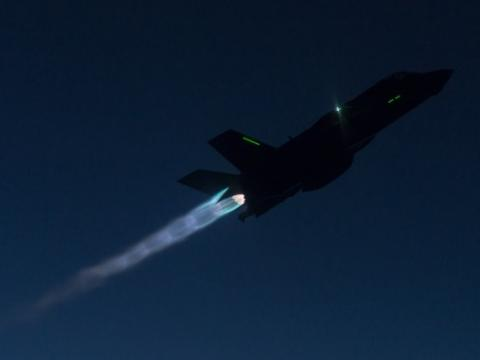 F-35B in Afterburner