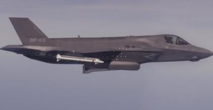 F-35B Aces First Release of a UK Paveway IV Bomb