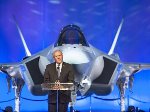 Honorable Frank Kendall at F-35A Norwegian Rollout Ceremony