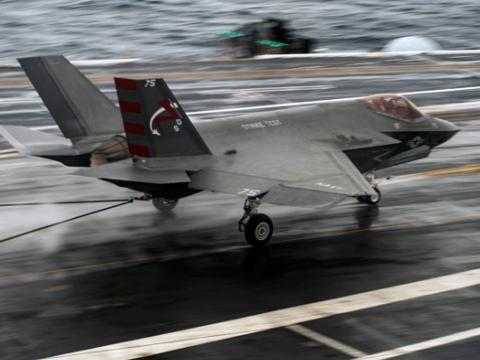 F-35C Lands on USS Ike