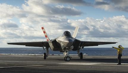 2 F-35Cs Make Their First Carrier Landings On USS Dwight D. Eisenhower