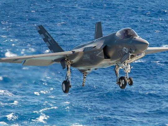 F-35 Comes in for Landing Aboard USS Eisenhower