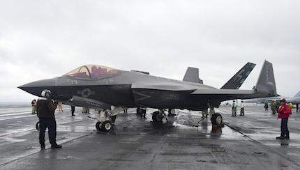 Navy F-35C Pilot Gears Up For Testing On Carrier Ike