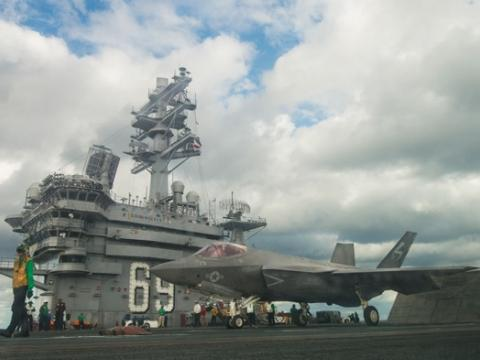 F-35C on USS Eisenhower