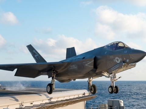 F-35C Takeoff from USS Eisenhower