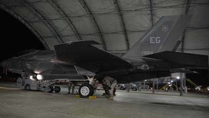 First F-35A GBU-12 Load, 33rd FW
