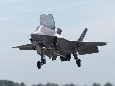 F-35B Hovers at NAS Patuxent River