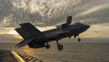 Marines Do First-of-its-Kind Maintenance Test with F-35B on Ship