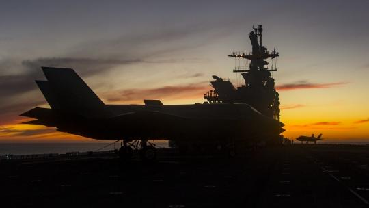 Sunset on USS America