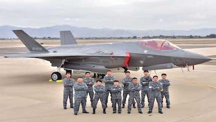 Japanese Jet Becomes First Foreign Military Sales F-35 At International Training Base