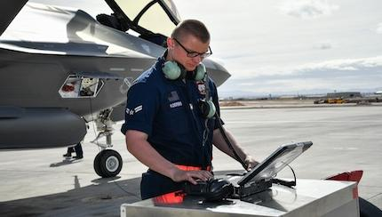 Face of Defense: Youngest Maintainer Launches Youngest Jet at Red Flag