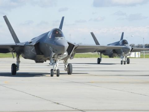 F-35Cs Arrive at NAS Lemoore,California