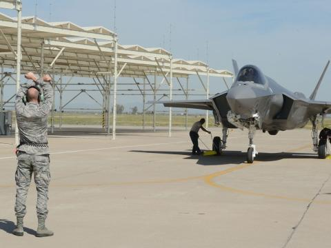 63rd Fighter Squadron Receives its First F-35