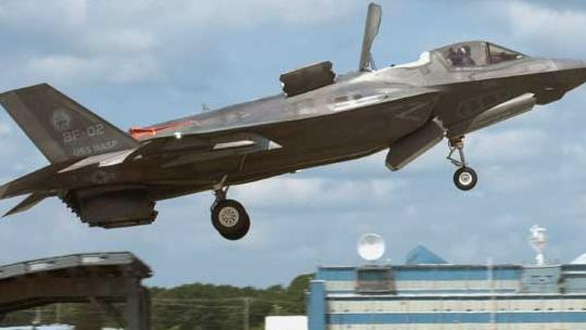 Where the Sky Meets the Sea: F-35B Ski Jump Testing