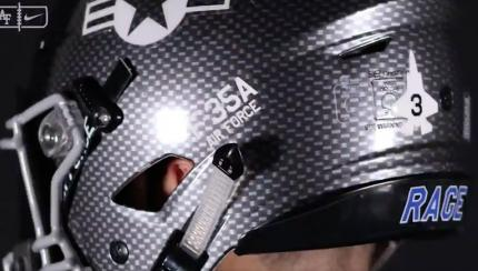 Air Force's Sweet New Football Helmets Look Like F-35 Pilot Headgear