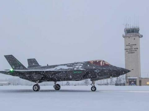 F-35 Icy Runway Testing at Eielson AFB