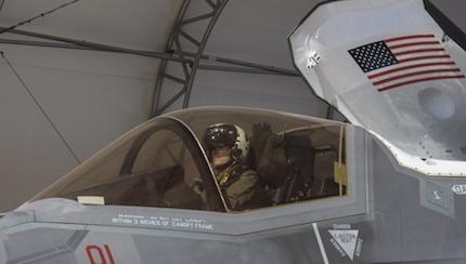 Blasting Into The future: VMFA-122 Jets Forward During Its First Official F-35B Flight