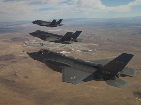 Three F-35As in Flight