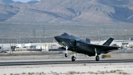 F-35 Lightning II aircraft arrive at Nellis